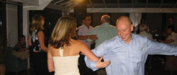 Ceilidh dancing at the party